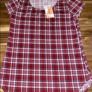 NWT honey and lace plaid t shirt